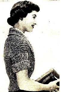 Mystery Shrug Knitting Pattern Easy Vintage 726014