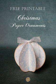 Printable Christmas Ornaments - Decorazioni per l'albero di Natale da stampare