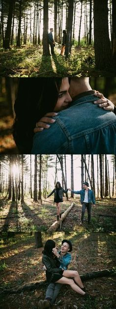 Scenic engagement session - woodland engagement photos - St. Louis Engagement Photography - Charis Rowland Photography - creative photos - artistic photography - woodsy - romantic - modern - intimate #couplephotography,