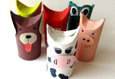 dıy toilet roll animals Animal Crafts For Kids, Diy Crafts For Kids, Arts And Crafts, Paper Towel Crafts, Toilet Paper Roll Crafts, Cardboard Crafts Kids, Toddler Sunday School, Toilet Roll Craft, Rolled Paper Art