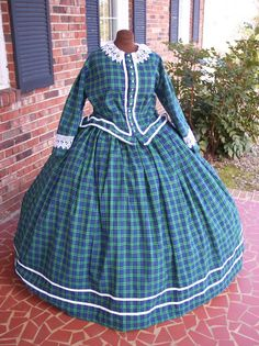 civil war cotton dress - Google Search
