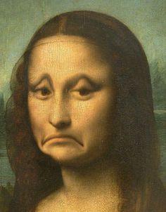 """Sad Mona Lisa"" - digital art by gummybear1995, via deviantART"