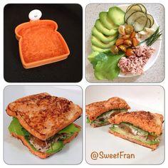 Sandwich de zanahoria.