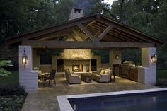 Pool house - idea for fireplace wall next year.
