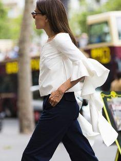 Evangelie & her epic sleeves. Paris.