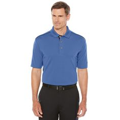 Men's Grand Slam Classic-Fit Colorblock Performance Golf Polo, Size: Medium, Blue Other