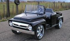 The '56 - 50's Truck Style Custom Golf Cart    Remember the classic trucks of the '50's? Well we do, that is why we've brought back The '56.  It is the most authentic looking vintage style custom golf cart on the market today. With its signature grill, perfectly shaped fenders and real cherry wood bed floor. The '56 represents the '50's as they were..... Timeless!