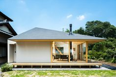 Wooden Architecture, Modern Architecture House, Residential Architecture, House Roof, Facade House, Modern House Plans, Modern House Design, Japanese Modern House, Modern Bungalow
