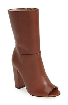 T+Tahari+'Panther'+Peep+Toe+Leather+Bootie+(Women)+available+at+#Nordstrom