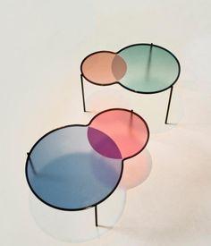 """davidjulianhansen:  """"""""Hues"""" tables by outofstock.com  #Built Beauty  """""""