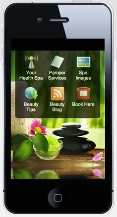 Health & Beauty Services Mobile Site example