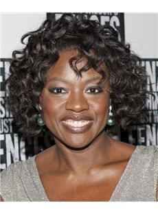 African American Curly Hair Wigs   Cheap Short Wavy Black African American Lace Front Wigs for Women ...