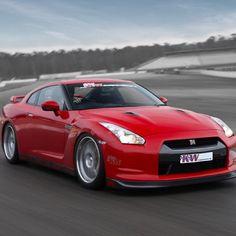 Sexy red devil Nissan GTR