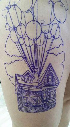 #up #house #ballons #tattoo #tattooartist #colortattoo #mrjack #mrjacktattoo #mrjacktattooartist #tatuaggio #bodyart #arte