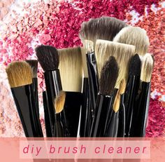 Clean those makeup brushes! #diybrushcleaner