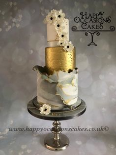 Marble Torn wedding cake - cake by Paul of Happy Occasions Cakes.