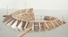 DE URBANISTEN Stadium Architecture, Architecture Student, Concept Architecture, Futuristic Architecture, Landscape Architecture, Architecture Design, Architecture Diagrams, Architecture Portfolio, Structural Model