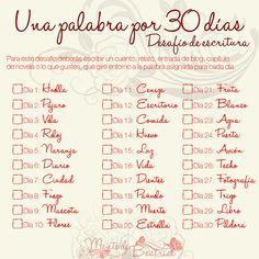 Una palabra - 30 días (Desafío de escritura) | Mente de Beatrice