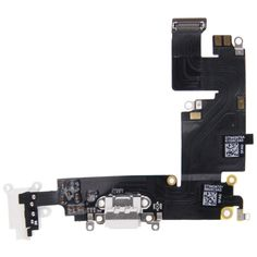 [USD5.60] [EUR5.26] [GBP4.06] Charging Port Dock Connector Flex Cable Replacement for iPhone 6 Plus(White)