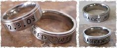 Cute! Personalized, handstamped rings.  Love this website!