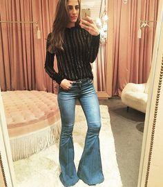 Inspiração com a calça flare mais linda !  169,00! #lojaonline #fashion #moda #modafeminina #mademoisellescb