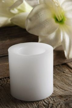 Wax Flickering LED Votive Candle White