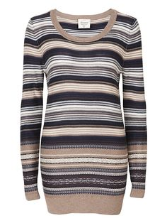 Shop for Women's, Men's and Maternity Clothing Online Striped Knit, Long A Line, New Look, Maternity, Men Sweater, Legs, Knitting, Fitness, Sweaters