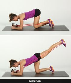 This move fires up your glutes through a large range of motion combining the benefits of a deadlift with a deep single-leg squat without putting extra pressure Body Fitness, Fitness Diet, Health Fitness, Fitness Friday, Dance Fitness, Band Workouts, At Home Workouts, Killer Workouts, Fitness Inspiration