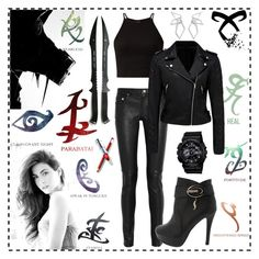 """Isabelle Lightwood by Shadowhunters"" by redstar88 ❤ liked on Polyvore featuring Rune NYC, Yves Saint Laurent, Forever New, G-Shock and W. Britt"