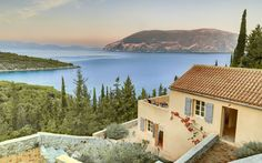 Perched on top of a hillside in Kefalonia, Greece this villa looks over a beautiful and secluded bay - just add a glass of chilled white wine