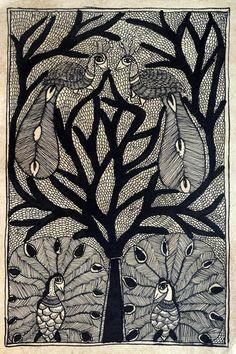 Indian Folk Art / Madhubani / Mithila Painting on by Crafts69