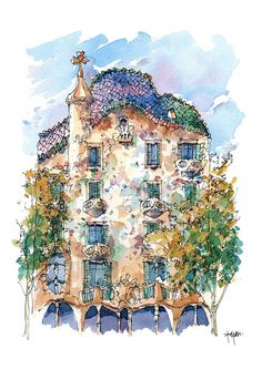 Casa Batlló, is a building restored by Antoni Gaudí and Josep Maria Jujol, Barcelona  (1904-1906)