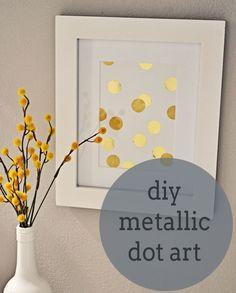 diy simple metallic art