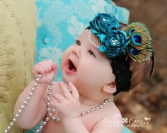 Couture Gatsby Flapper Style Rosette Headband by iheartbellasbows, $19.95