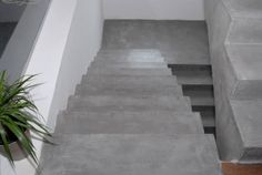 Microcement finished floors are designed to give an ultra smooth finish; designed for interior use. Sitges, Floor Finishes, Stairs, Micro Cement, Interior, Design, Home Decor, Stairway, Decoration Home