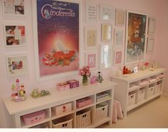 A Room For Everyone: Little Girls' Bedroom  Now THIS is the perfect little girl's room.  The organization is low so that she can clean up for herself, its colorful and the artwork is pleasingly neat and clean