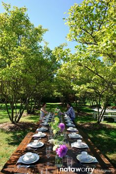 Seattle Farm Tables in the Grove