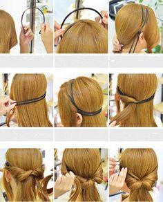 1.55AUD - Fashion Women Hair Styling Tool Elastic Diy Headband Hair Holder #ebay #Fashion