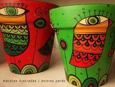 #rojo & #verde en #vialolatienda 471 y 19 #citybell 🎅♥️🌠 . . . #macetas #navidad #fiestas #pajaros #casa #jardin #love #amor #pottery #ceramica #regalo #handmade #decoracion #plantas #flores #color #complementarios #pintadoamano #objetosunicos #laplata #bsas #merrychristmas #felicidades #dolorespardo