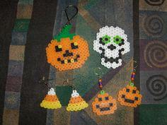 Halloween earrings and ornaments perler beads by Linda Gravois