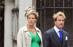 One other I had been avoiding, not that outrageous, kinda borderline. Plus, the poor girl is very pregnant, married to a thrillseeker with poor taste in ties . . .but alas no one is immune.  Ben Fogle and his wife Marina (Jasper Juinen/Getty Images)