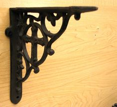 In A Pair Antique Style Cast Iron Brackets Garden Braces Rustic Shelf Bracket Brown 8 Pre-drilled Holes Make Mounting Easy Superior Quality