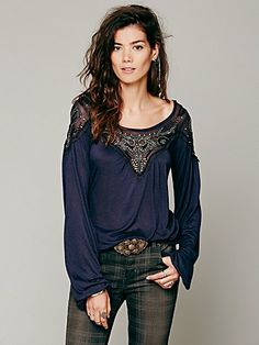 Free People Blue Sky Banded Top  not pumpkin!! but the other two are great