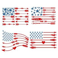 {FREE Daily Cut File} USA America Flag Arrow SVG Cuttable Designs --Available for FREE today only, June 6
