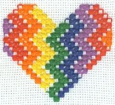 Free Heart-Within-Heart Cross Stitch Pattern - Free Printable