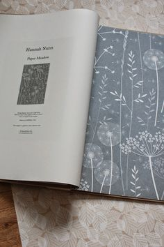 dandilions Hannah Nunn: Hannah Nunn wallpaper sample books Great textile and inspiration. Diy Wallpaper, Wallpaper Samples, Wallpaper Warehouse, Book Projects, Repeating Patterns, Home Decor Bedroom, Mood, Textile Design, Illustrations