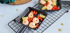 Garnalen met ananas (gourmet recept) - Lekker en Simpel Scampi, A Food, Blog, Gourmet, Pineapple, Red Peppers, Blogging