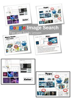 Google Image Search Tools Lesson. FREE. Students will learn how to filter results by… 1.	Size (Large, Medium or an Exact Size) 2. Color (Full Color, Black and White, Transparent) 3.	Type (Face, Photo, Clip Art, Line Drawing, Animated) 4. Time (Anytime, Past 24 hours, Past Week, Custom Range) 5.	Usage Rights (Labeled for Reuse and Noncommercial Use)