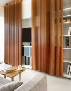 Gallery of wood slat wall covering indoor sliding doors wall panel - slatwall design ideas