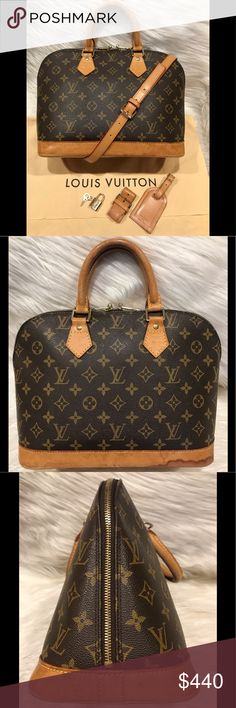 94b7a5e785af Authentic Louis Vuitton Alma Tote  8.2C Is used so it does show some signs